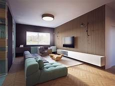 apartment living for the modern modern apartment with two zones and amazing wood paneling