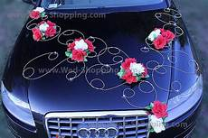 D 233 Coration Voiture Mariage Roses Blanches Et Rouges