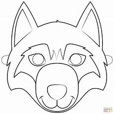 wolf mask coloring page free printable coloring pages