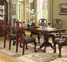 brussels formal dining room 7 piece furniture traditional dark cherry ebay