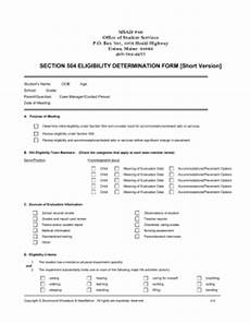 section 504 eligibility review form