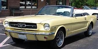 Yellow Ford Mustang Convertible