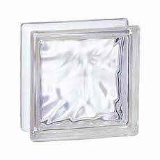 dimension carreau de verre brique de verre incolore 19x19x8 cm aspect nuag 233
