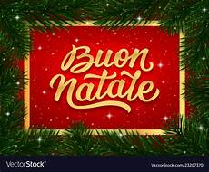 merry christmas card design with italian text vector image