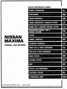 auto repair manual free download 2005 nissan maxima transmission control nissan maxima model j30 series 1994 service manual general information pdf download