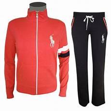 polo ralph damen trainingsanzug rot schwarz