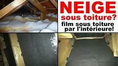 Isolation Toiture Sans Pare Vapeur Neige Sous Toiture Tuile Comble Infiltration De Neige