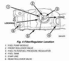 98 dodge ram up fuel filter location where is the fuel filter located on a 2003 dodge durango