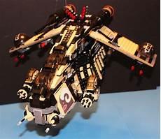 lego 174 brick star wars custom 7676 black tatooine desert republic gunship ebay