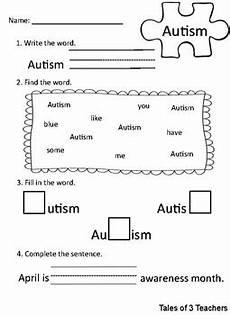 autism awareness activities for kindergarten by tales of 3 teachers