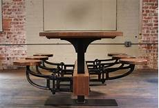 swing table industrial swing out seat cafe table vintage industrial