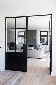 Portes Fenetres Aluminium Noir Style Atelier Verriere