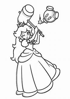 Ausmalbilder Prinzessin Rosalina Dibujos De Princesa Con Martillo Para Colorear