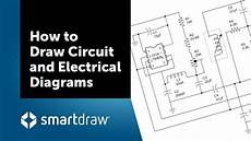 draw wiring diagram how to draw circuit and electrical diagrams with smartdraw youtube