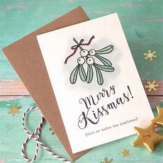 merry kissmas christmas card merry kissmas mistletoe christmas card by arbee notonthehighstreet com