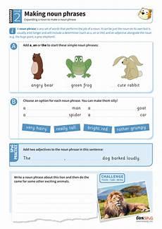 making noun phrases worksheet year 2 spag teaching resources