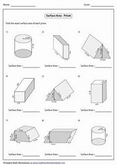 surface area of mixed shapes 6th grade math area worksheets printable math worksheets math