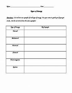 types of energy worksheet energy unit types of energy worksheet by kdema tpt