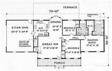 house plans one story great one story 7645 3 bedrooms and 2 5 baths the