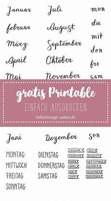 Free Printable Gratis Handmade Vorlage F 252 R Monate Und