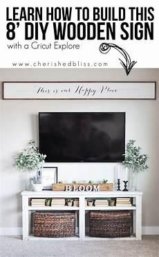 Home Decor Ideas Using Cricut by Diy Large Wooden Sign Using Cricut Explore Air Home