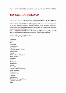 volvo s40 v50 c70 2007 electrical wiring diagram manual instant download by kfjnshen issuu