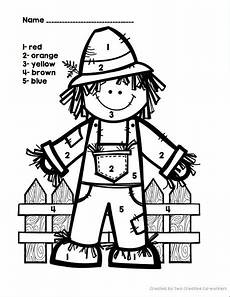 color by number fall coloring pages 18108 math literacy incentives more fall themed packet preschool activities scarecrow