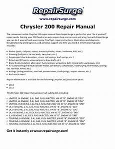 online auto repair manual 2011 chrysler 200 engine control chrysler 200 repair manual 2011 2012