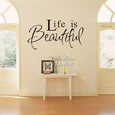 wall sticker decal quotes is beautiful quote wall sticker wall quotes home