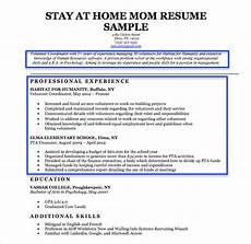 resume objective exles stay at home mom stay at home mom resume sle writing tips resume