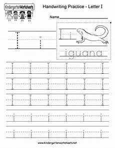letter i writing practice worksheet free kindergarten worksheet for