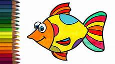 coloring a colorful fish animals coloring pages for