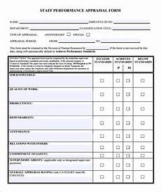 free 12 employee evaluation form sles in ms word pages