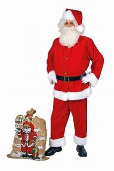 weihnachtsmann nikolaus santa claus anzug aus waschsamt