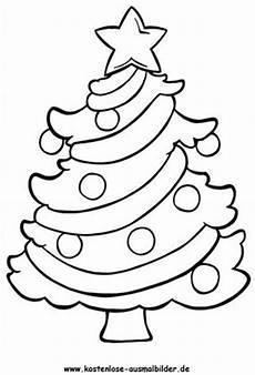 ausmalbild weihnachtsbaum 4 zum ausdrucken