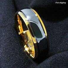 8 6mm dome 18k gold silver mens tungsten ring wedding band bridal atop jewelry ebay