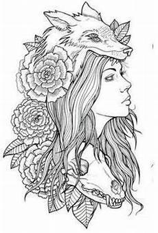wolf headdress drawing search headdress