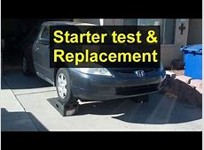 How to test and replace your starter, Honda Accord, Acura