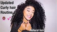 updated curly hair routine natural hair jasmeannnn youtube