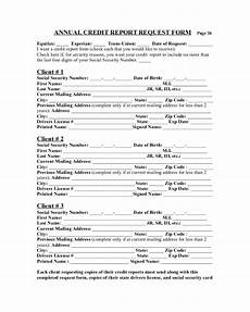 sle annual credit report request form edit fill sign online handypdf