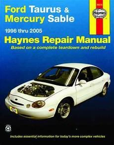 hayes car manuals 2005 mercury mariner free book repair manuals ford taurus mercury sable 1996 2005 haynes service repair manual sagin workshop car manuals