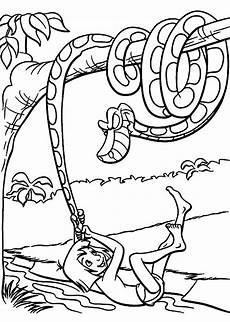 Dschungelbuch Ausmalbilder Gratis Mowgli And Kaa Coloring Pages For Printable Free