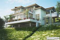 steep hillside house plans steep slope house plan with 3 bedrooms id 23402