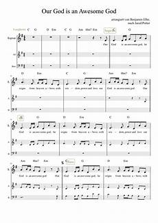 our god is an awesome god sheet music for voice download