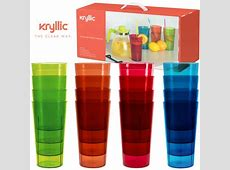 Plastic Cup Tumblers Drinkware Glasses   Break Resistant