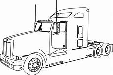 trailer truck drawing at getdrawings free