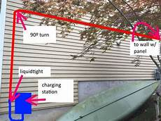 running conduit through wall outside for electric car charging station doityourself com