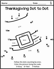 dot to dots thanksgiving