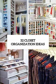 Bedroom Closet Closet Organization Ideas by 32 Cool And Smart Ideas To Organize Your Closet Digsdigs