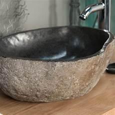 vasque en naturelle vasque 224 poser en naturelle galet de riviere 40 cm